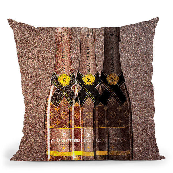Champagne Lover Throw Pillow By Martina Pavlova