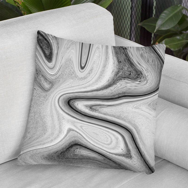Marble Throw Pillow By Martina Pavlova