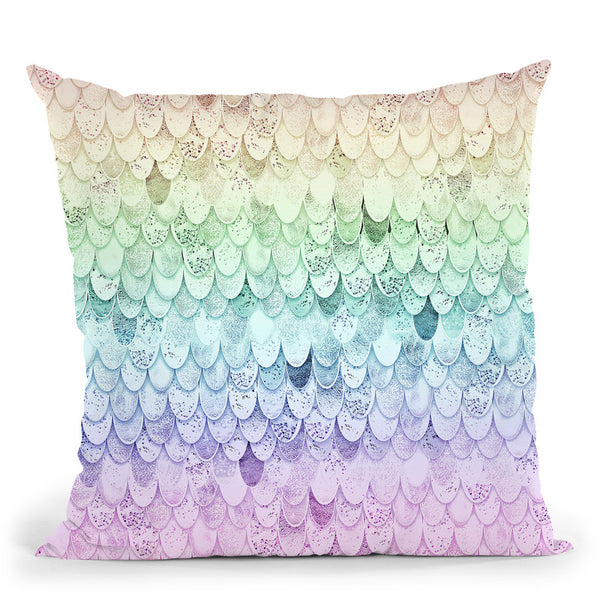 Magic Mermaid Rainbow Strigel Original Throw Pillow By Monika Strigel