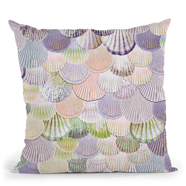 Mermaidells Lavender And Coral Throw Pillow By Monika Strigel