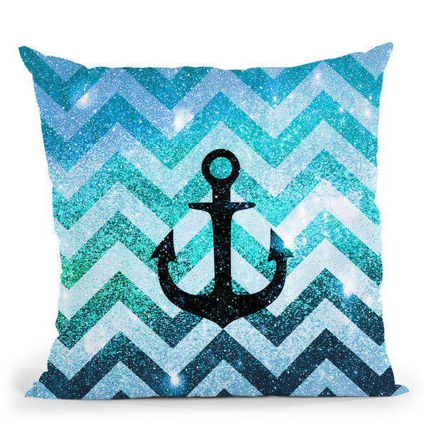 Party Chevron Teal Throw Pillow By Monika Strigel