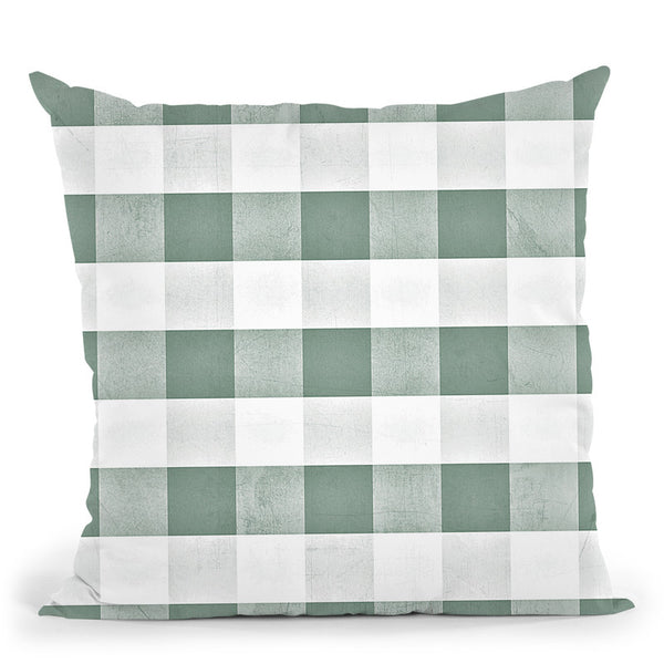 Eucalyptus Green Gingham Throw Pillow By Monika Strigel