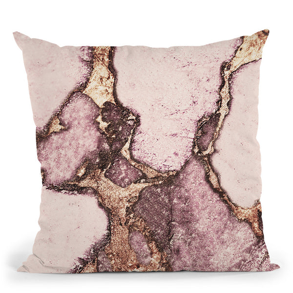 Gemstone And Gold Blush Pale Pink Throw Pillow By Monika Strigel