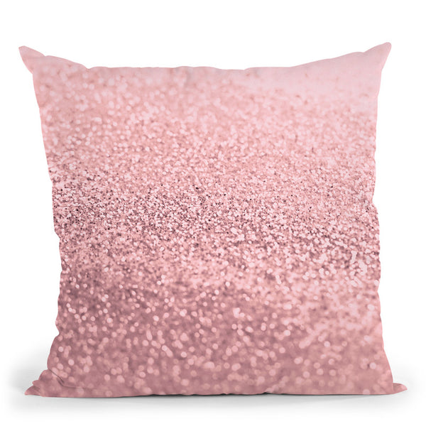 Gatsby Rose Pink Throw Pillow By Monika Strigel