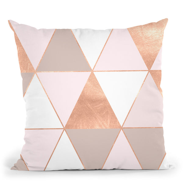 Geo Tikki Rosegold Pastel Throw Pillow By Monika Strigel