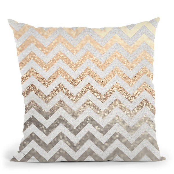 Gold And Silver Throw Pillow By Monika Strigel