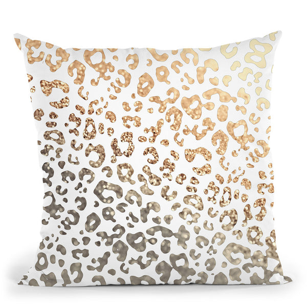 Gold Leo Throw Pillow By Monika Strigel