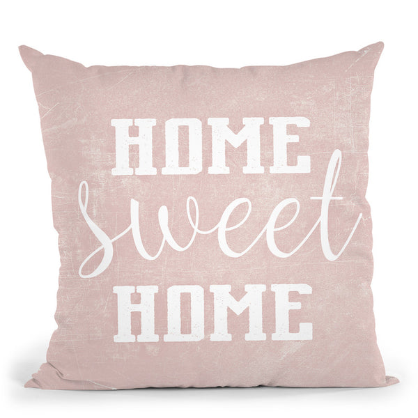 Home Sweet Home Scandi Rose Throw Pillow By Monika Strigel