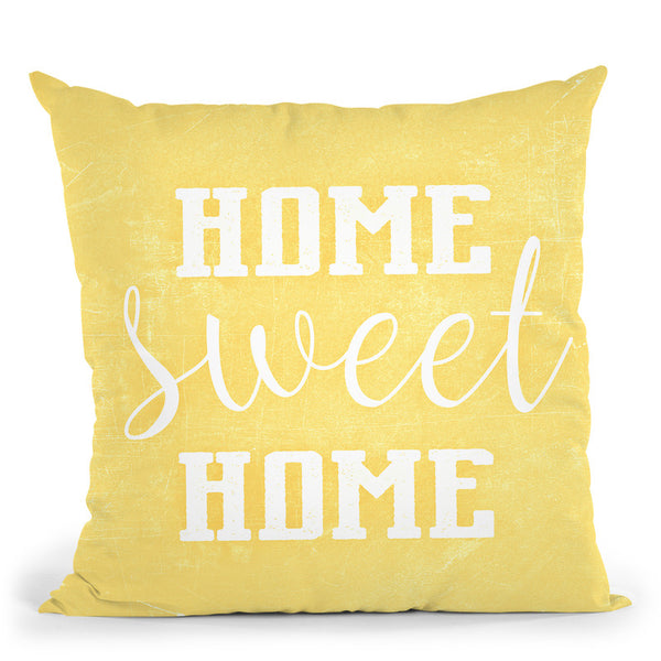 Home Sweet Home Scandi Yellow Throw Pillow By Monika Strigel