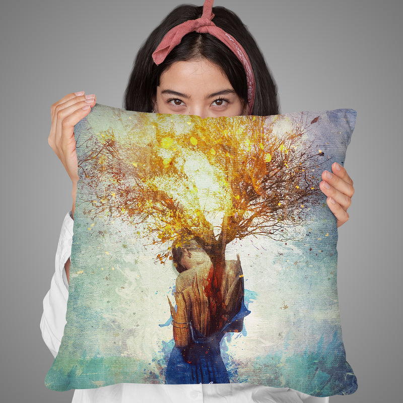 Finding Throw Pillow By Mario Sanchez