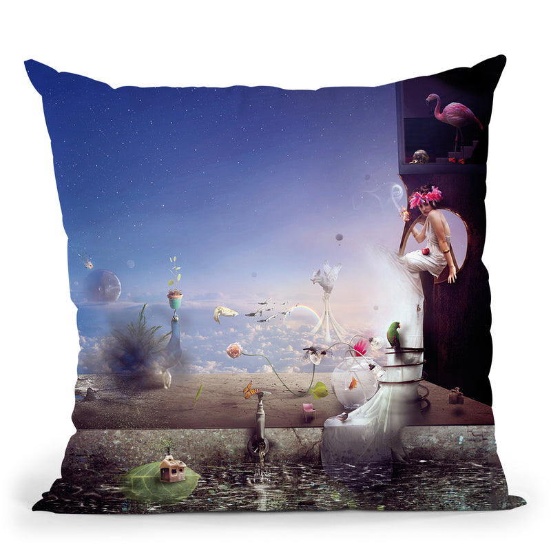 Herbal Movement Throw Pillow By Mario Sanchez