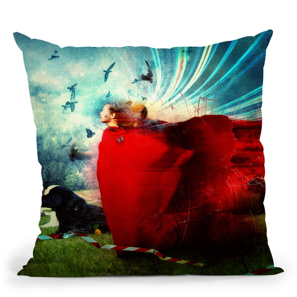 The Dancers Throw Pillow By Mario Sanchez