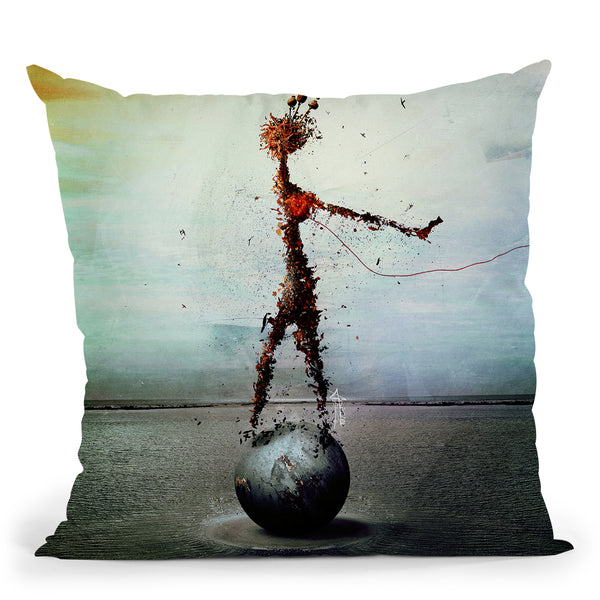 Blood Throw Pillow By Mario Sanchez