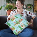 Lovely Llamas Christmas Step 07 Throw Pillow By Mary Urban