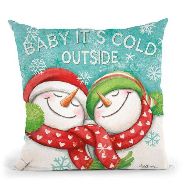 Let It Snow Vi Throw Pillow By Mary Urban
