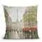 Impression Of Paris Throw Pillow By Carrie Schmitt