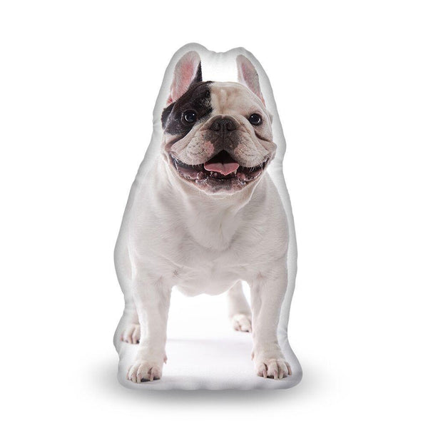 Manny The Frenchie Standing Manny Aped Throw Pillow