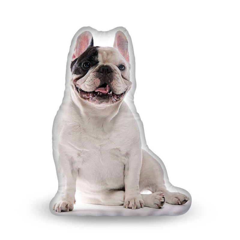 Manny The Frenchie Sitting Manny Aped Throw Pillow