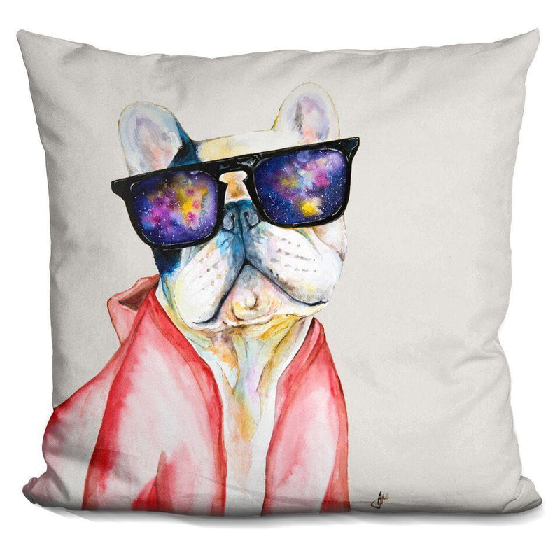 Manny and the Sky of Diamonds by Marc Allante Pillow