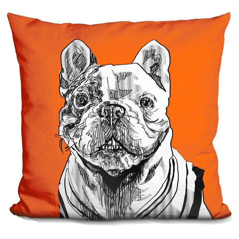 Manny the Frenchie by Technodrome1 Pillow