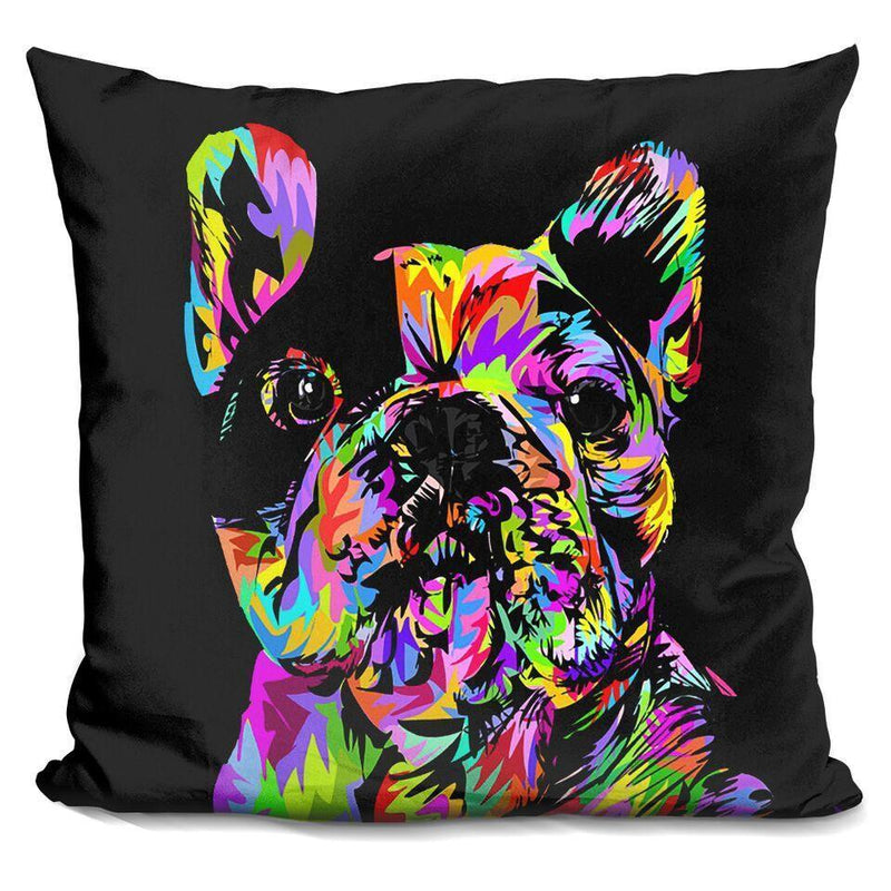 Manny the Frenchie by Technodrome Square Pillow
