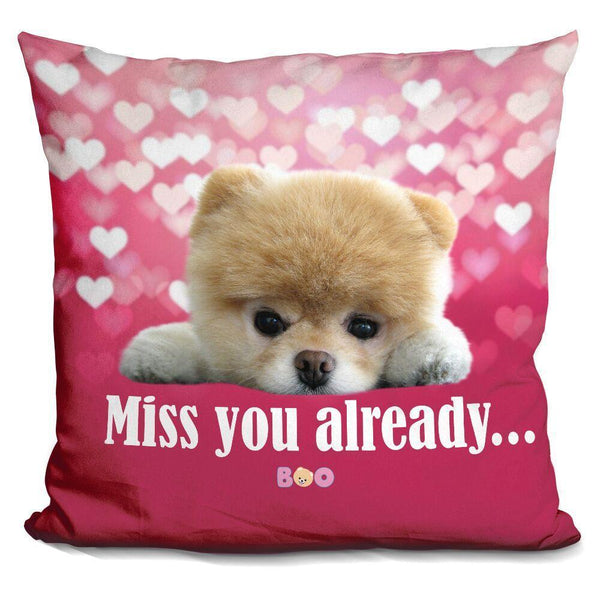Boo Miss You Already Throw Pillow