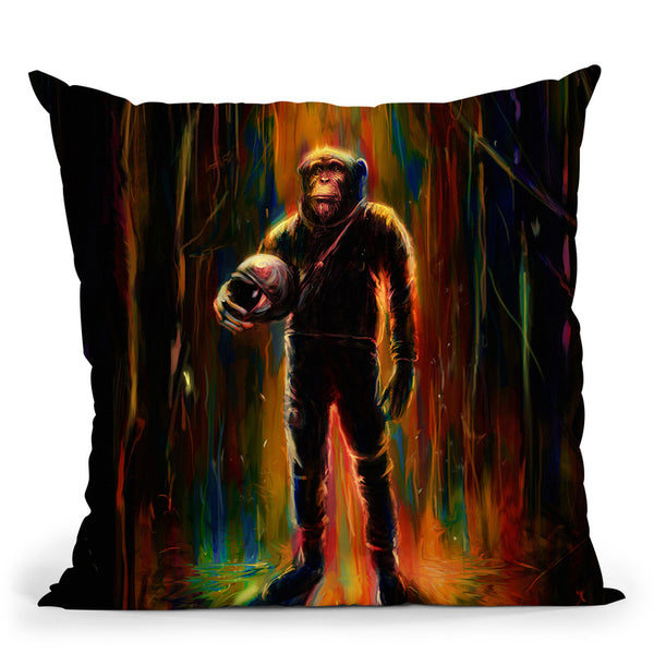 Commander Chimp Throw Pillow By Nicebleed