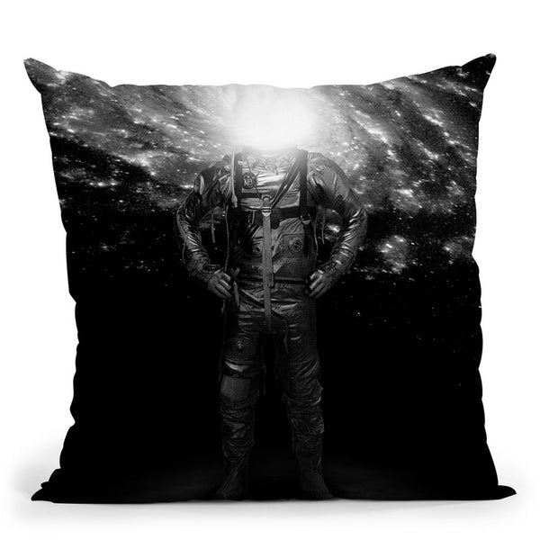 Mr Galaxy Throw Pillow By Nicebleed