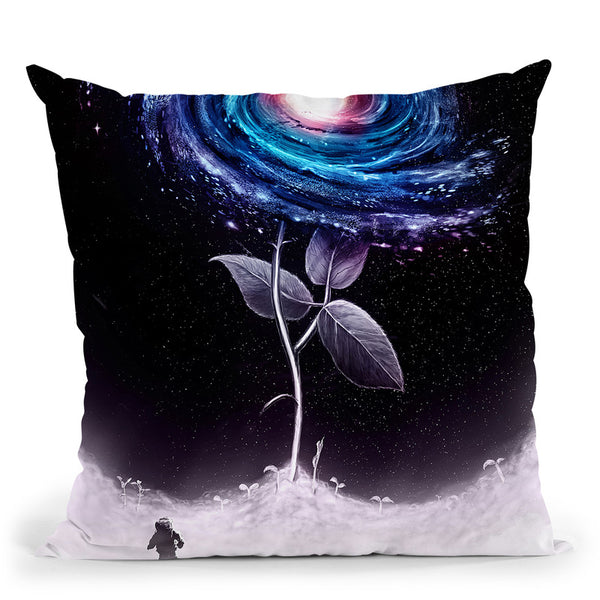 My Little Flower Throw Pillow By Nicebleed