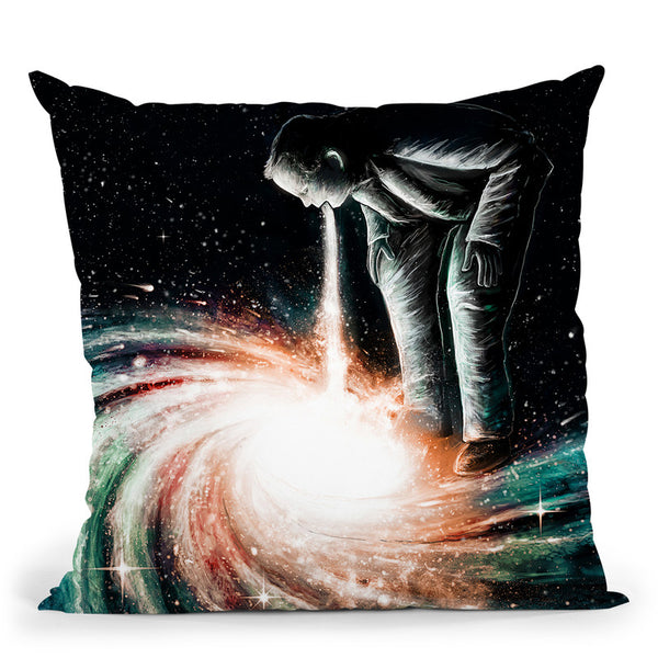 Cosmic Vomit Throw Pillow By Nicebleed