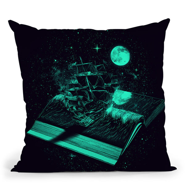 Crossing The Rough Sea Of Knowl Throw Pillow By Nicebleed