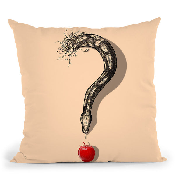 Curious Temptation Throw Pillow By Nicebleed