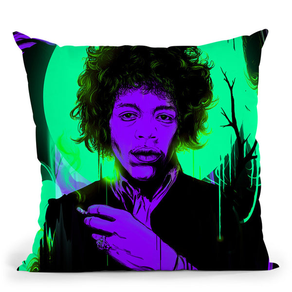 Purple Haze Throw Pillow By Nicebleed