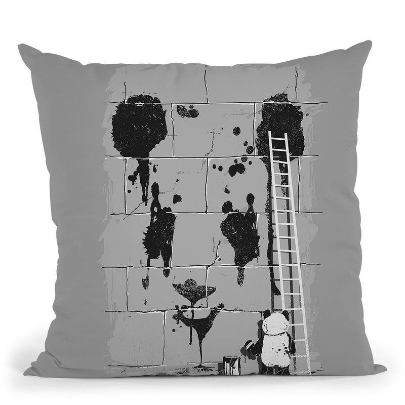Self Portrait Throw Pillow By Nicebleed