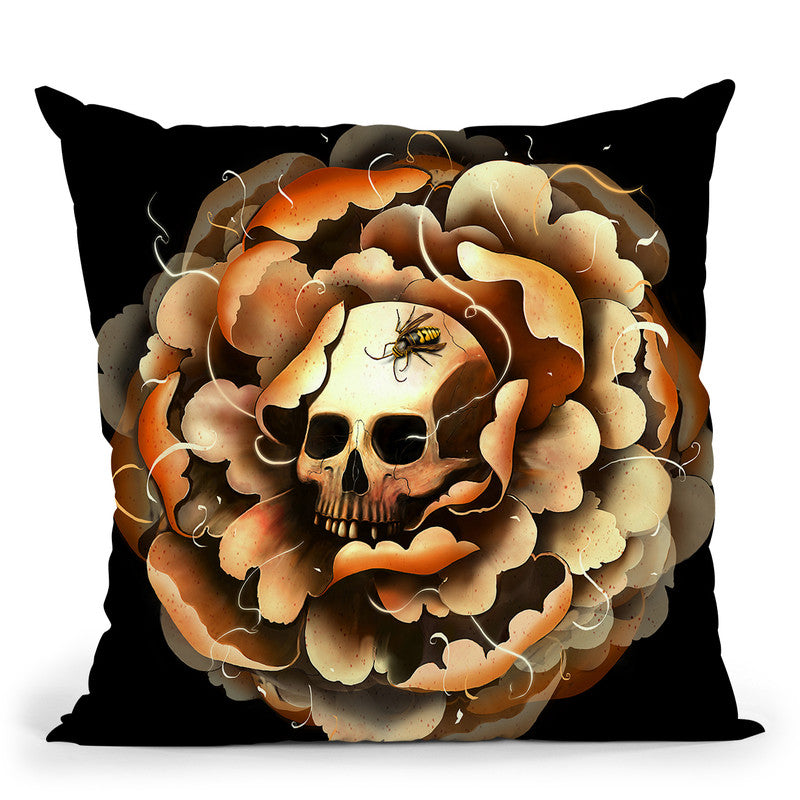 Death Blooms Throw Pillow By Nicebleed