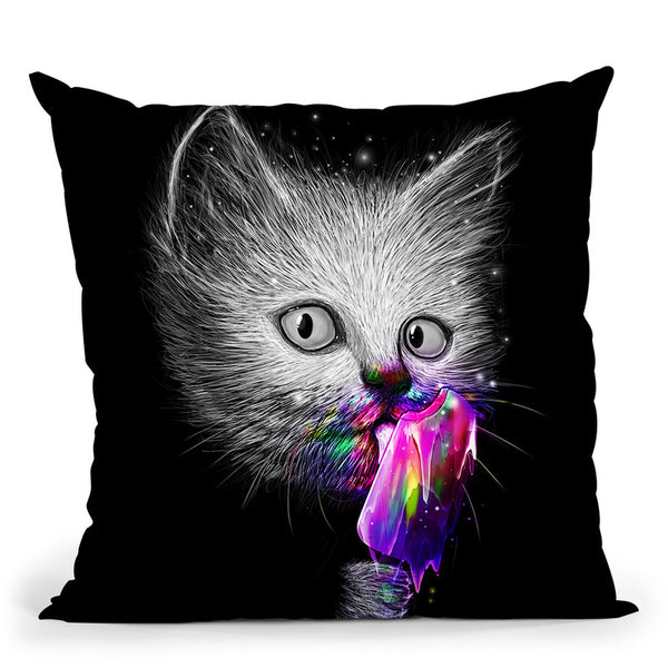 Slurp! Throw Pillow By Nicebleed