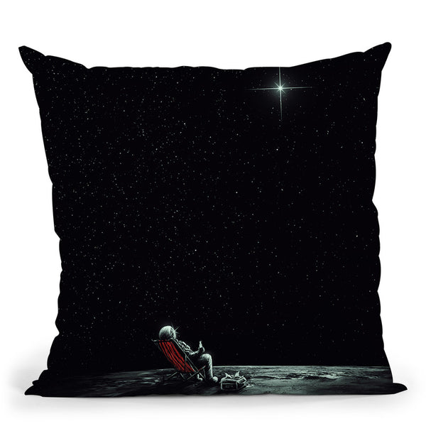 Space Chill Throw Pillow By Nicebleed