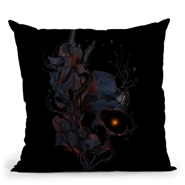 Deathblooms Throw Pillow By Nicebleed