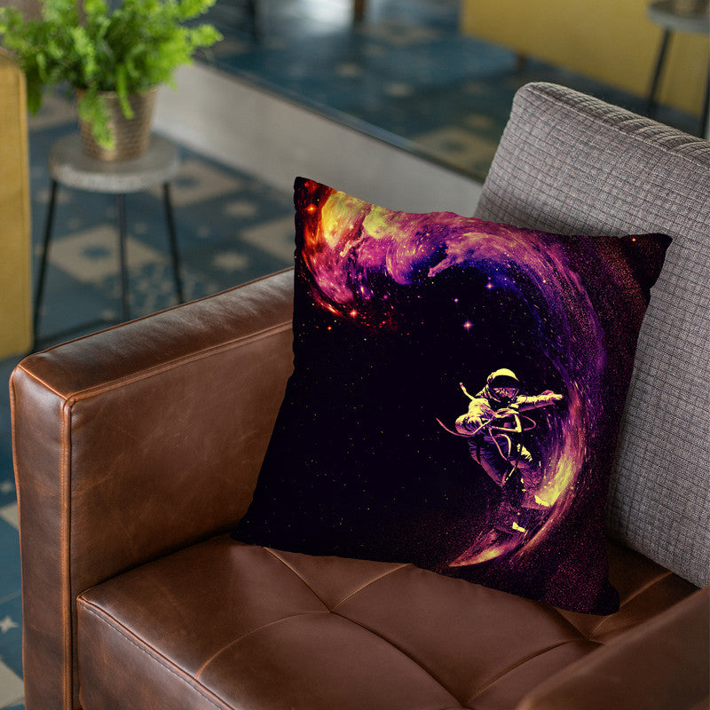 Space Surfing Throw Pillow By Nicebleed