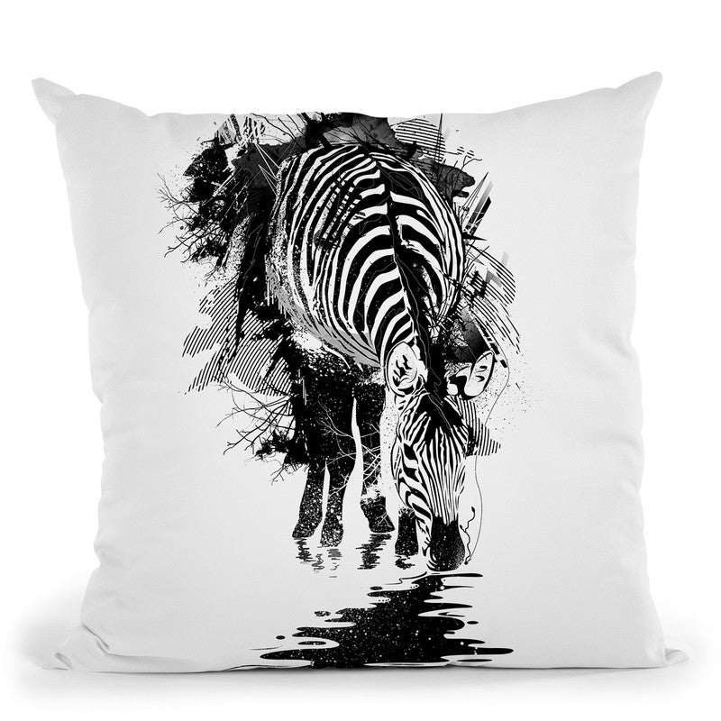 Stripe Charging Throw Pillow By Nicebleed