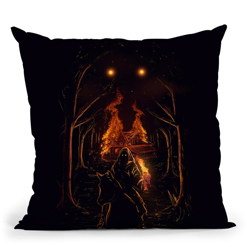 The Arsonist Throw Pillow By Nicebleed