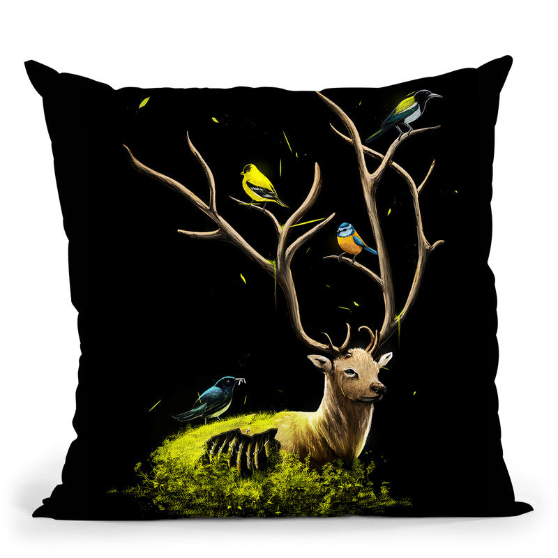 The Gathering Throw Pillow By Nicebleed