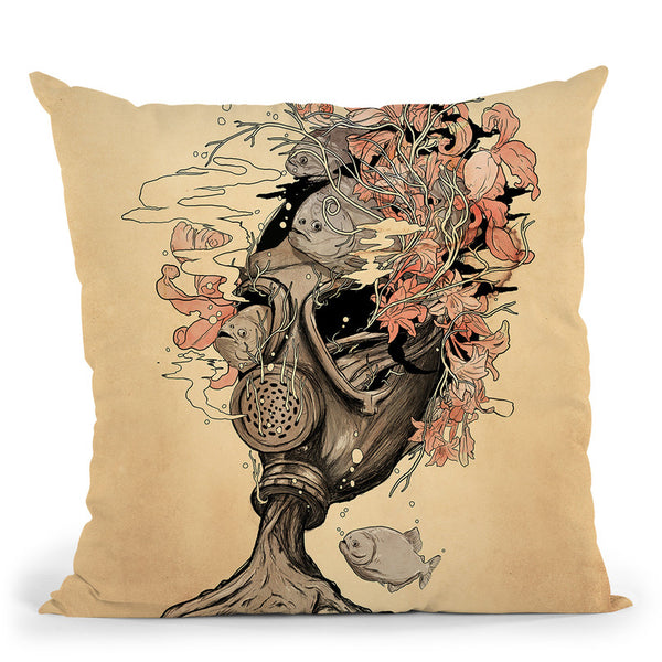 Breath Throw Pillow By Nicebleed