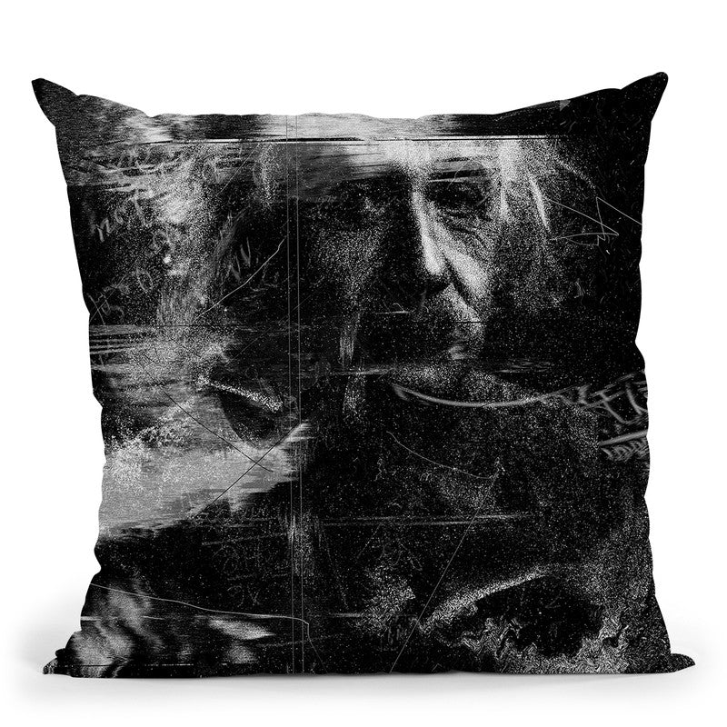 Einstein Throw Pillow By Nicebleed