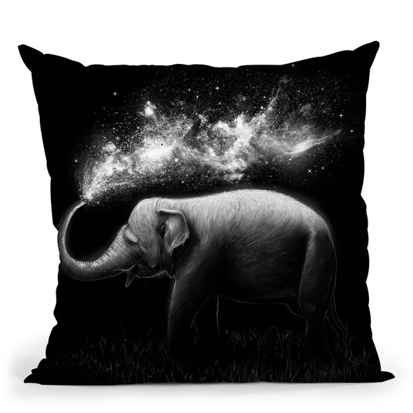 Elephant Splash Throw Pillow By Nicebleed
