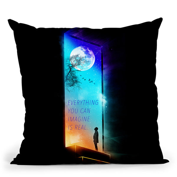 Everything You Can Imagine Is Real Throw Pillow By Nicebleed