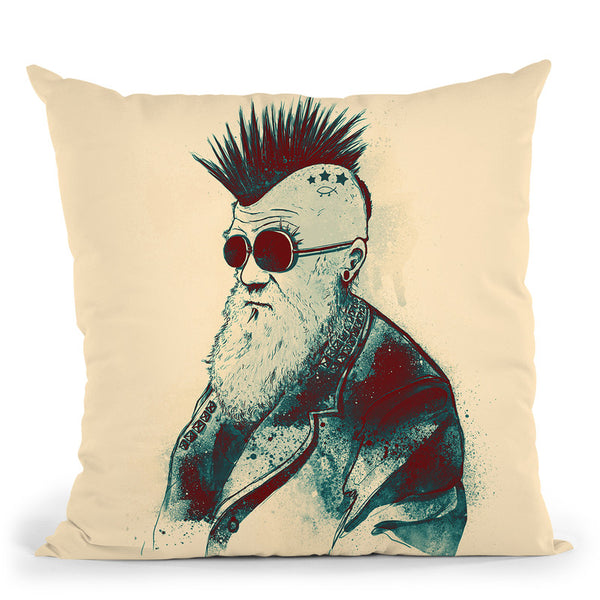Evolution Of Charles Throw Pillow By Nicebleed