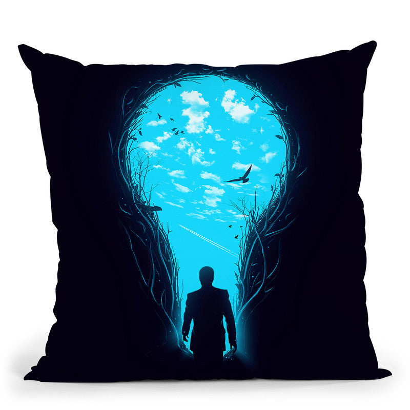 Bright Side Throw Pillow By Nicebleed