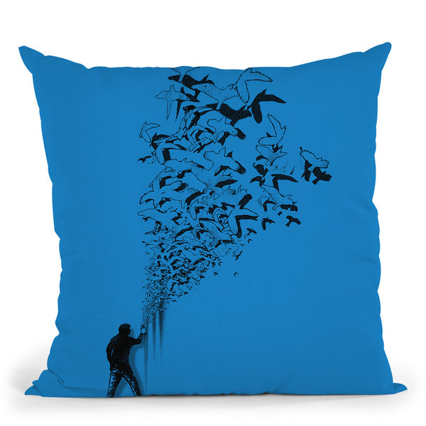 Flying High Throw Pillow By Nicebleed