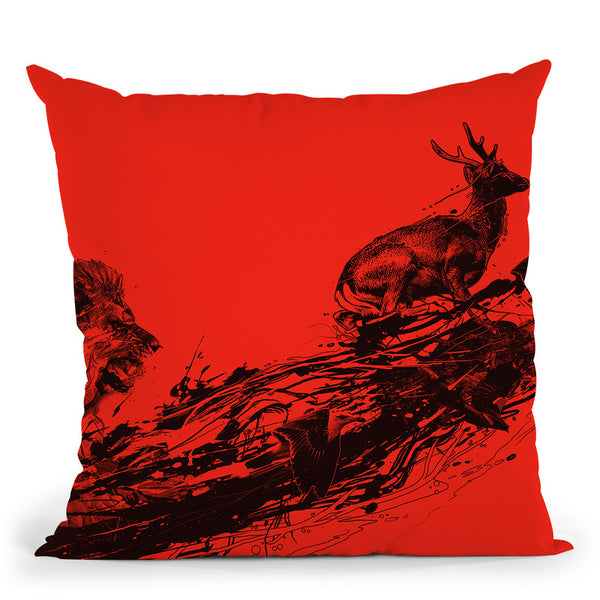 Intense Chasing Throw Pillow By Nicebleed
